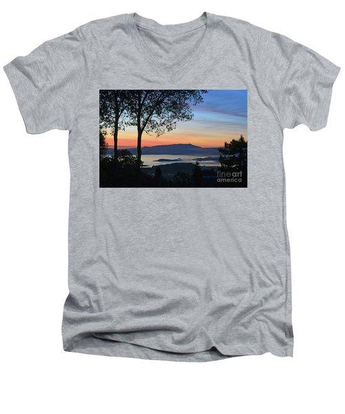 Evening Before Lunar Eclipse Men's V-Neck T-Shirt