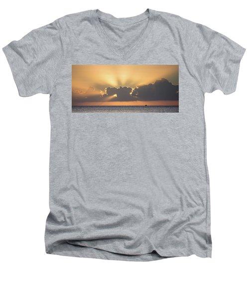 Evening Fishing Men's V-Neck T-Shirt