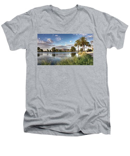 Evening Fishing Men's V-Neck T-Shirt