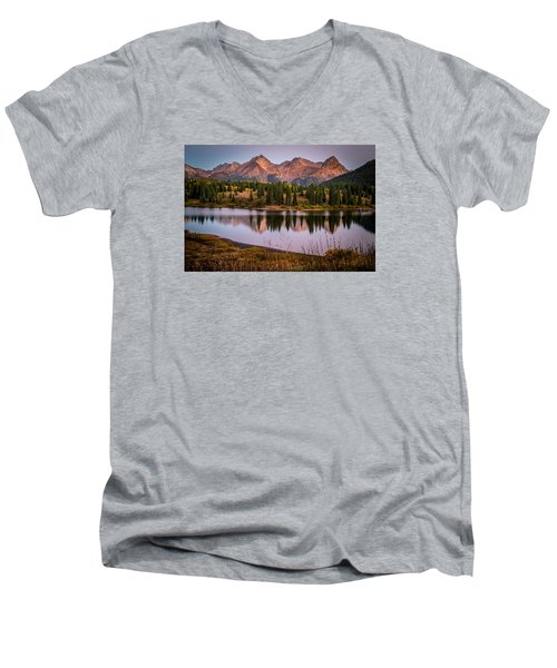 Evening Glow At Molas Lake Men's V-Neck T-Shirt