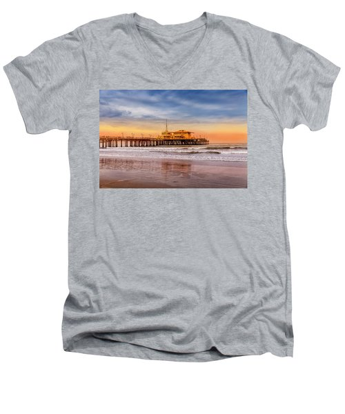 Evening Glow At The Pier Men's V-Neck T-Shirt