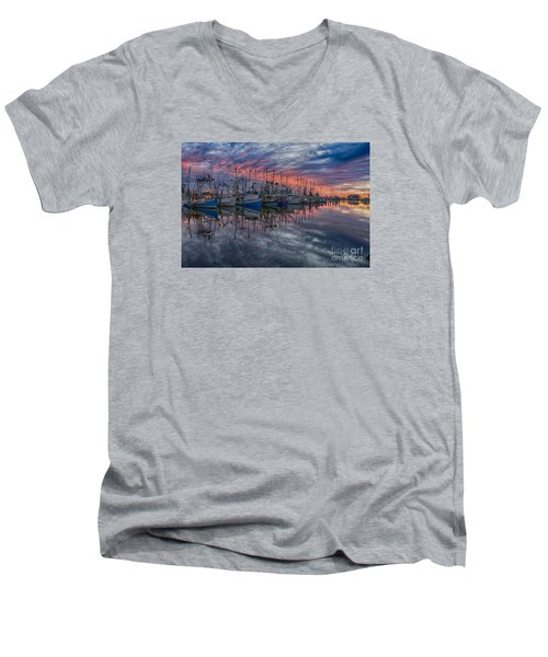 Men's V-Neck T-Shirt featuring the photograph Evening Glow by Brian Wright