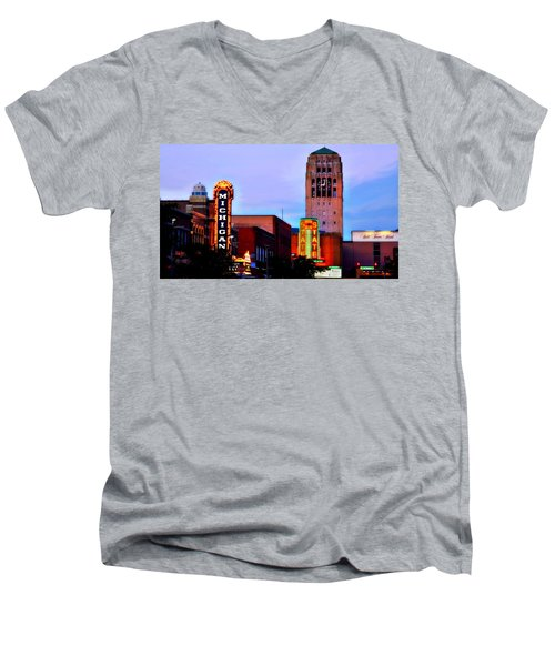 Evening In Ann Arbor Men's V-Neck T-Shirt