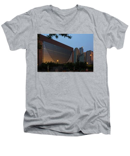 Evening In Downtown Minneapolis Men's V-Neck T-Shirt