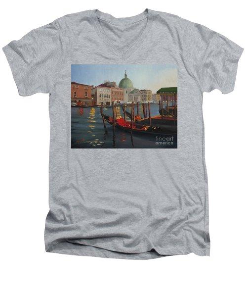 Evening In Venice Men's V-Neck T-Shirt