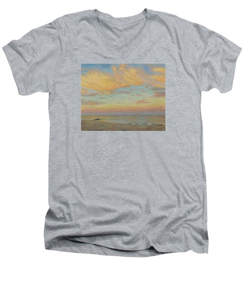 Evening Men's V-Neck T-Shirt by Joe Bergholm