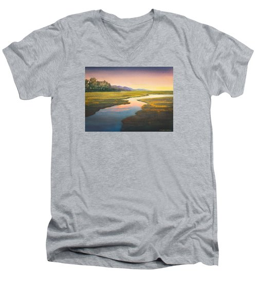 Evening Light Men's V-Neck T-Shirt by Douglas Castleman