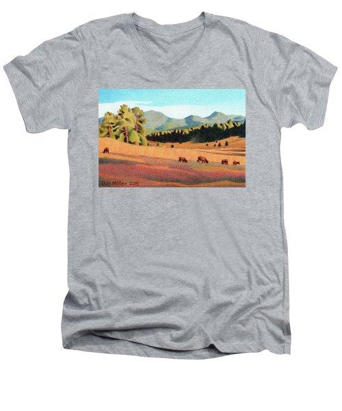 Evening Light Evergreen Men's V-Neck T-Shirt