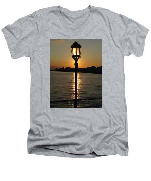 Evening Light Men's V-Neck T-Shirt by John Topman