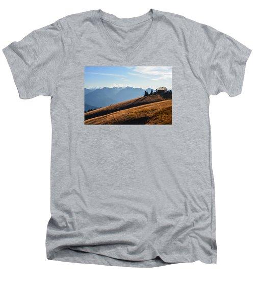 Men's V-Neck T-Shirt featuring the photograph Evening Light by Ronda Broatch