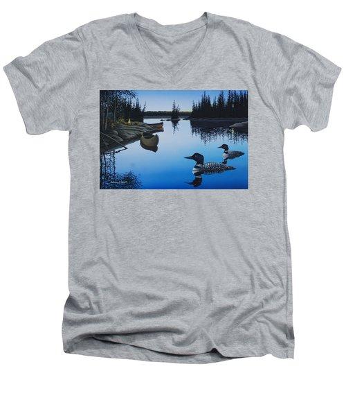 Evening Loons Men's V-Neck T-Shirt