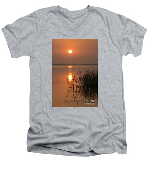 Men's V-Neck T-Shirt featuring the photograph Evening Reflections by Inge Riis McDonald