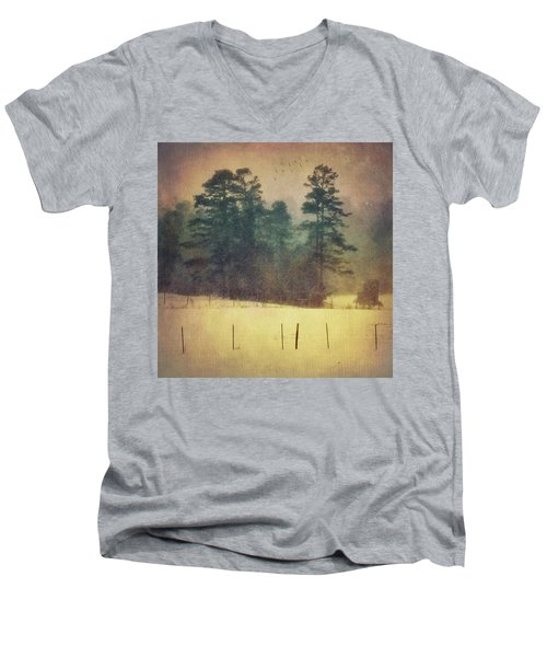 Evening Snow Glow Men's V-Neck T-Shirt