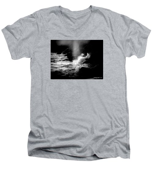 Evening Splash In Bw Men's V-Neck T-Shirt