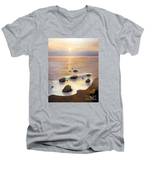 Eventide Men's V-Neck T-Shirt by Michael Rock