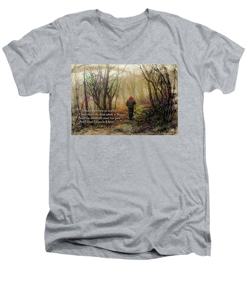 Men's V-Neck T-Shirt featuring the photograph Ever On And On... by Jessica Brawley