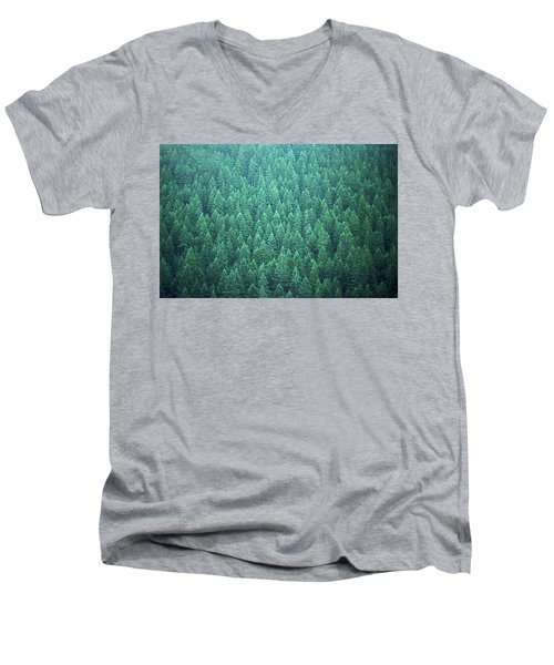 Men's V-Neck T-Shirt featuring the photograph Evergreen by Laurie Stewart