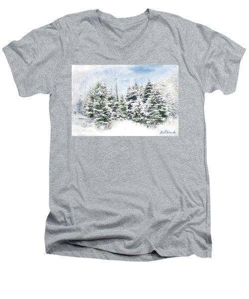 Evergreens Men's V-Neck T-Shirt by John Selmer Sr