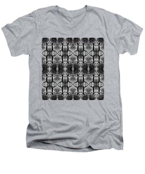 Everlasting Connections Men's V-Neck T-Shirt by Rachel Hannah