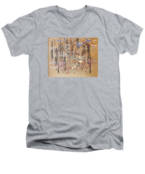 Everwatchful Men's V-Neck T-Shirt by J R Seymour