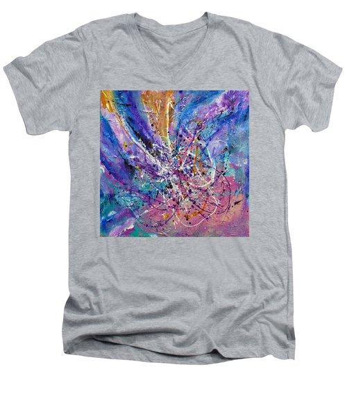 Every Single Second Men's V-Neck T-Shirt by Tracy Bonin