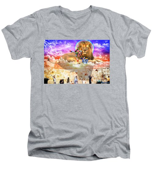 Men's V-Neck T-Shirt featuring the digital art Every Tribe Every Nation by Dolores Develde