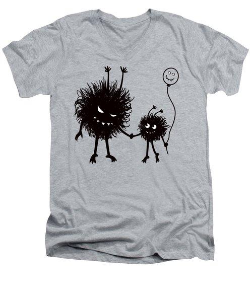 Evil Bug Mother And Child Men's V-Neck T-Shirt
