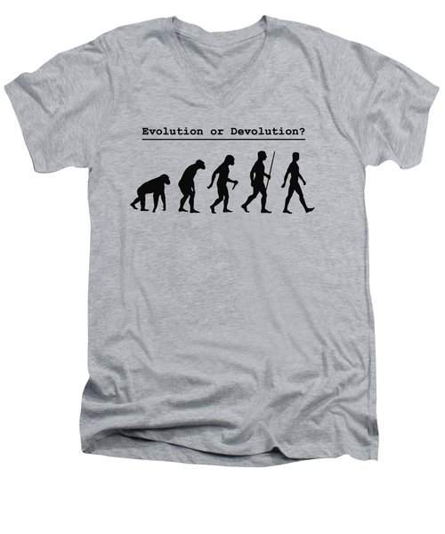Evolution Or Devolution Men's V-Neck T-Shirt