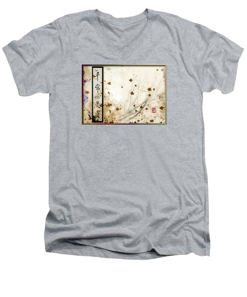 Every-day Mind Is The Path Men's V-Neck T-Shirt by Peter v Quenter