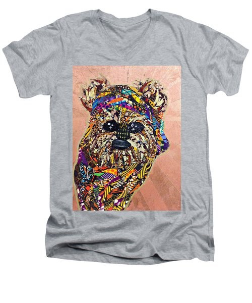 Ewok Star Wars Afrofuturist Collection Men's V-Neck T-Shirt by Apanaki Temitayo M