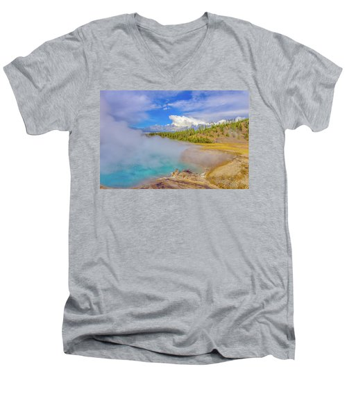 Excelsior Geyser Crater Yellowstone Men's V-Neck T-Shirt