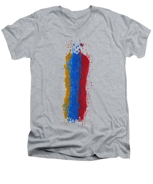 Exclamations 3 Men's V-Neck T-Shirt by Lori Kingston