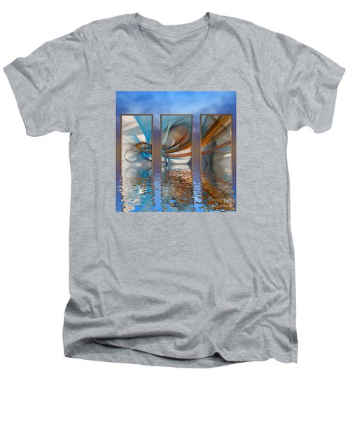 Exhibition Under The Sky Men's V-Neck T-Shirt