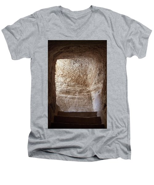 Exit To The Light Men's V-Neck T-Shirt by Yoel Koskas