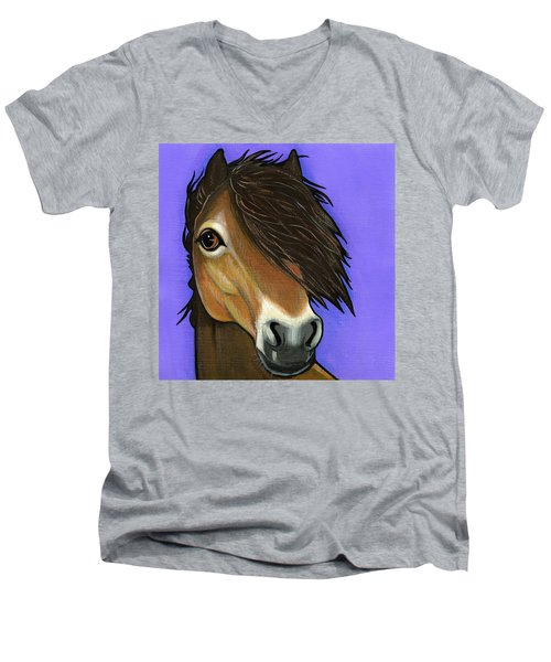 Exmoor Pony  Men's V-Neck T-Shirt