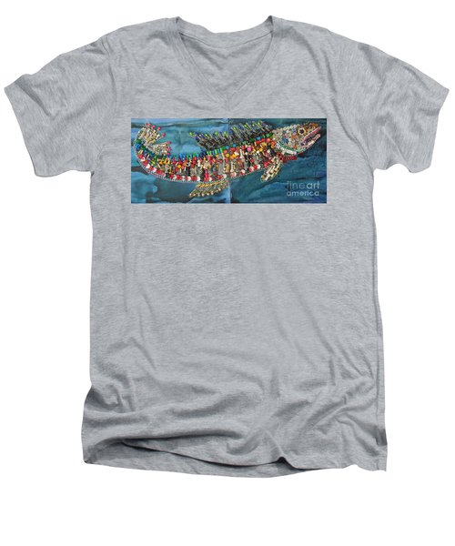 Exotic Fish Men's V-Neck T-Shirt by Judith Espinoza