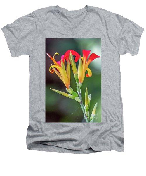 Exotic Flowers Men's V-Neck T-Shirt