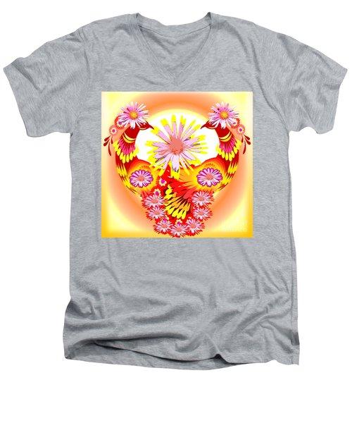Exotic Peacocks Men's V-Neck T-Shirt