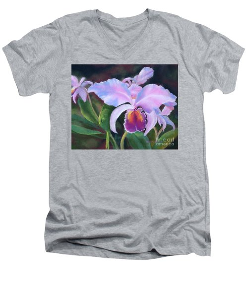 Exotic Pink Orchid Men's V-Neck T-Shirt