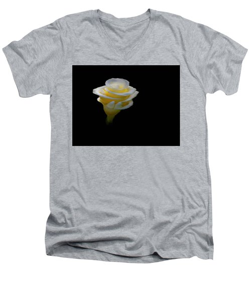 Exotic White Bloom Men's V-Neck T-Shirt
