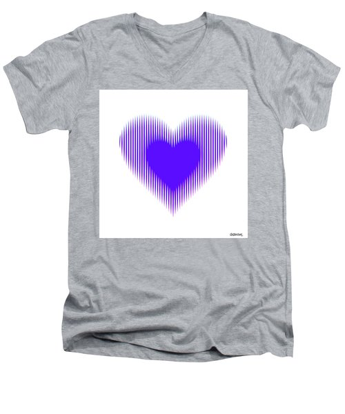 Expanding - Shrinking Heart Men's V-Neck T-Shirt