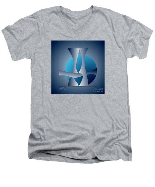 Expert Debate Men's V-Neck T-Shirt by Leo Symon