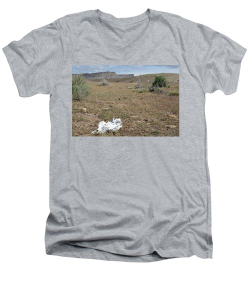 Men's V-Neck T-Shirt featuring the photograph Expired by Jenessa Rahn