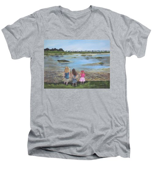 Exploring The Marshes Men's V-Neck T-Shirt