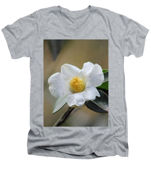 Men's V-Neck T-Shirt featuring the photograph Exposed by Deborah  Crew-Johnson