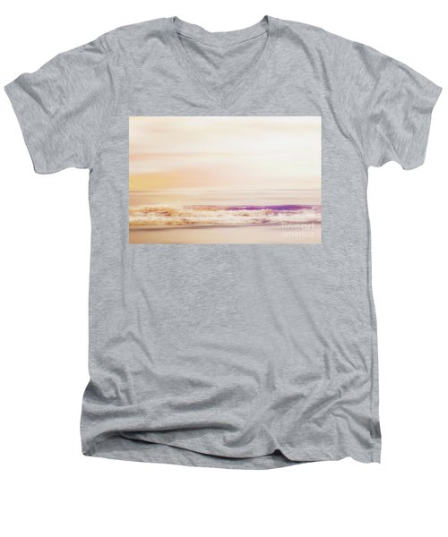 Expression - Dreams On The Shore Men's V-Neck T-Shirt by Janie Johnson
