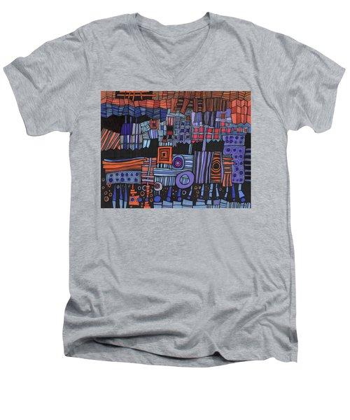 Exterior Facade Men's V-Neck T-Shirt