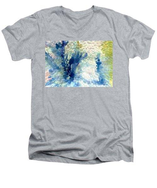 Extrude Men's V-Neck T-Shirt by Steve Karol