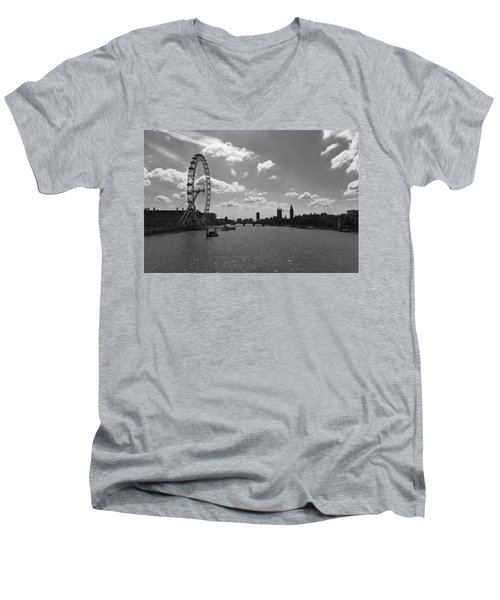 Eye And Parliament Men's V-Neck T-Shirt by Maj Seda
