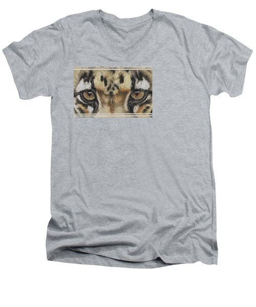 Eye-catching Clouded Leopard Men's V-Neck T-Shirt